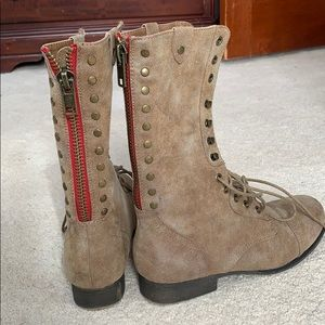 Madden girl Camel colored lace up boots